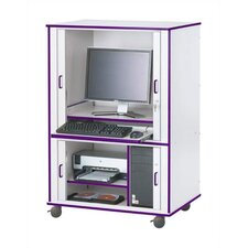 Rainbow Accents Rectangular Computer Cabinet