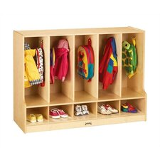 "<strong>Jonti-Craft</strong> KYDZ Toddler Coat Locker with Step - Rectangular (48"" x 17.5"")"