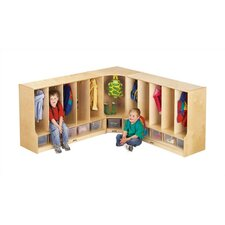 KYDZ 1-Section Corner Toddler Coat Locker