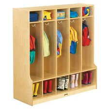 Coat Locker w/Step - 5 Sections