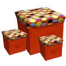<strong>JaBox</strong> Collapsible Storage Box (Set of 3)
