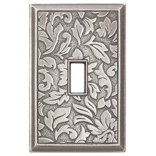 <strong>RQ Home</strong> Deco Damask Magnetic Single Toggle Wall Plate