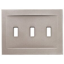 Triple Toggle Magnetic Wall Plate
