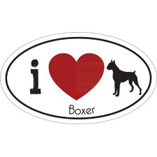 I Heart Boxer Car Magnet