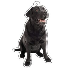 Black Labrador Air Freshener (Set of 3)