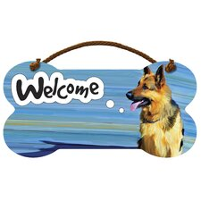 German Shepherd Welcome Wall Décor