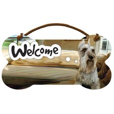 Schnauzer Welcome Wall Sign