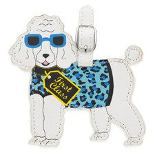 Poodle Luggage Tag
