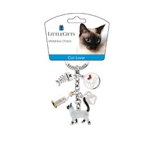 Standing Cat Enamel Key Chain