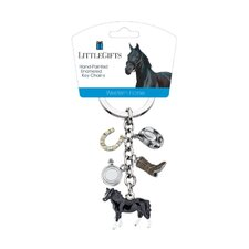 <strong>Little Gifts</strong> Western Standing Horse Enamel Key Chain