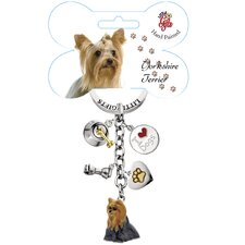 Yorkshire Terrier Enamel Key Chain