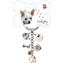 <strong>Little Gifts</strong> Chihuahua Enamel Key Chain