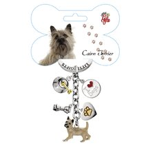 Cairn Terrier Enamel Key Chain