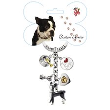 <strong>Little Gifts</strong> Boston Terrier Enamel Key Chain