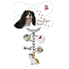 King Charles Spaniel Enamel Key Chain