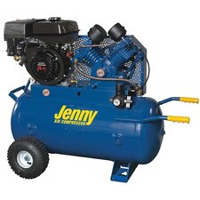<strong>Jenny Products Inc</strong> 30 Gallon 11 HP Gas Engine Single Stage Wheeled Portable Air Compressor