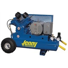 <strong>Jenny Products Inc</strong> 5 HP Electric Motor 230 Volt Two Stage Wheeled Portable Air Compressor