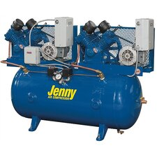 <strong>Jenny Products Inc</strong> 240 Gallon 50 HP Two Stage Duplex Electric Stationary Air Compressor