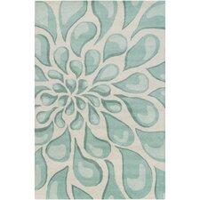 Cinzia Sky Blue Large Drops Blowout Area Rug