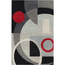 Cinzia Grey Geometric Rug