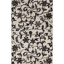 Cinzia Off-White / Black Floral Area Rug