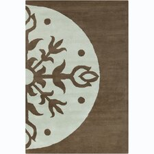 <strong>Filament  LLC</strong> Cinzia Dark Brown/Sky Blue Rug