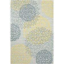 Cinzia Grey / Yellow Floral Area Rug