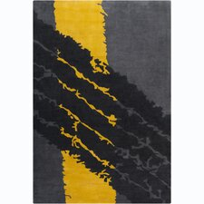 Cinzia Dark Grey / Black Area Rug