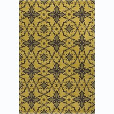 Cinzia Gold/Dark Olive Green Abstract Rug