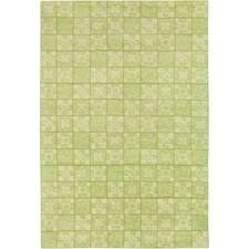 Cinzia Green Geometric Area Rug