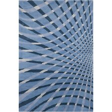 <strong>Filament  LLC</strong> Cinzia Blue Abstract Rug
