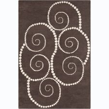 Cinzia Brown Abstract Rug