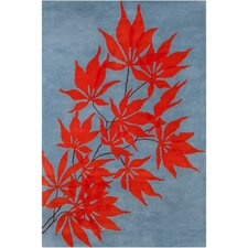 <strong>Filament  LLC</strong> Cinzia Blue/Red Floral Rug