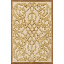 Cinzia Cream / Gold Abstract Area Rug