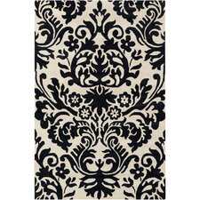 Cinzia Cream / Black Floral Area Rug