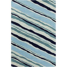 Cinzia Blue Striped Rug