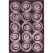 <strong>Filament  LLC</strong> Cinzia Dark Purple Spirals Rug