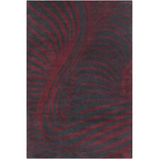 Cinzia Black/Burgundy Rug
