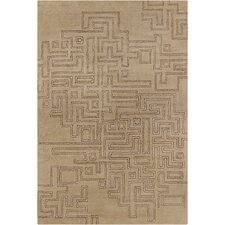 Cinzia Tan Geometric Area Rug