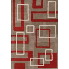 Cinzia Light Taupe Mix Geometric Area Rug