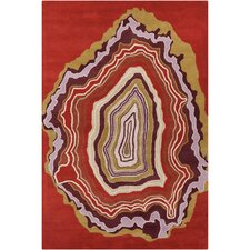 Cinzia Rusty Red Abstract Rug