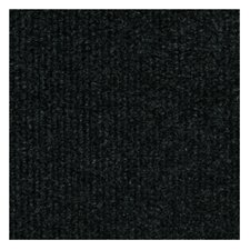 "Ribbed 18"" x 18"" Carpet Tile in Black"