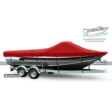 Aluminum Fishing Boat Cover with High Windshields