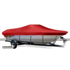 Fish and Ski Style Boat Cover with Walk-Thru Windshields