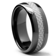 Dome Men's Ceramic Comfort Fit Wedding Band