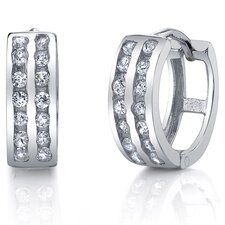 <strong>Bonndorf Laboratories</strong> Huggie Cubic Zirconia Hoop Earrings