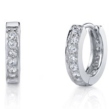 Huggie Cubic Zirconia Hoop Earrings
