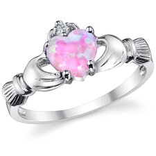 Stelring Silver Irish Claddagh Friendship and Love Ring