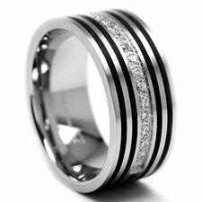 Stainless Steel Cubic Zirconia Comfort Fit Ring