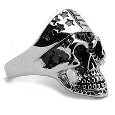 Men's Stainless Steel Casted Biker Skull Ring
